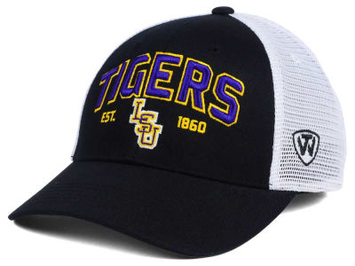 LSU Tigers 2 for $28 Top of the World NCAA Black Mesh Teamwork Snapback Cap