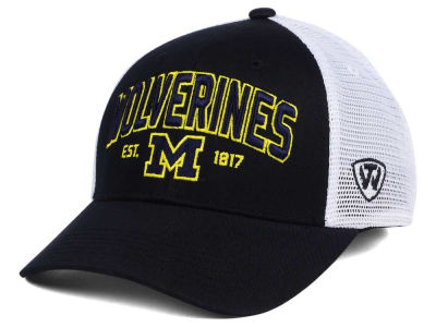 Michigan Wolverines NCAA 2 for $25 Top of the World NCAA Black Mesh Teamwork Snapback Cap