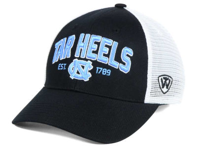 North Carolina Tar Heels NCAA 2 for $25 Top of the World NCAA Black Mesh Teamwork Snapback Cap