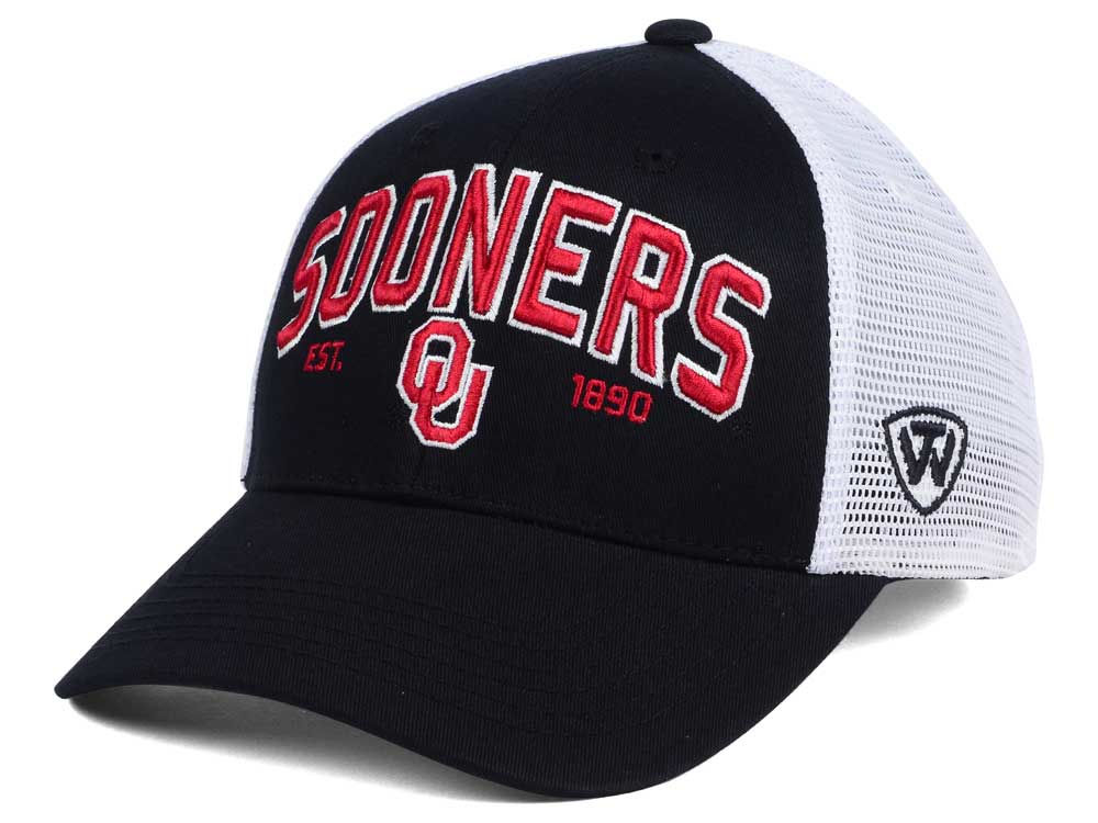reputable site 07990 4498f ... promo code for oklahoma sooners 2 for 28 top of the world ncaa black  mesh teamwork