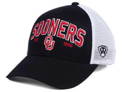 Oklahoma Sooners 2 for $28 Top of the World NCAA Black Mesh Teamwork Snapback Cap