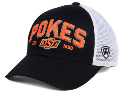 Oklahoma State Cowboys NCAA 2 for $25 Top of the World NCAA Black Mesh Teamwork Snapback Cap