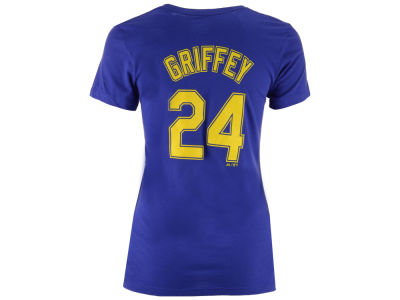 Seattle Mariners Ken Griffey Jr. Majestic MLB Women's Crew Player T-Shirt