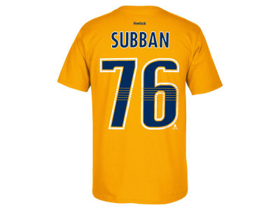 Nashville Predators P.K. Subban Reebok NHL Men's Player T-Shirt