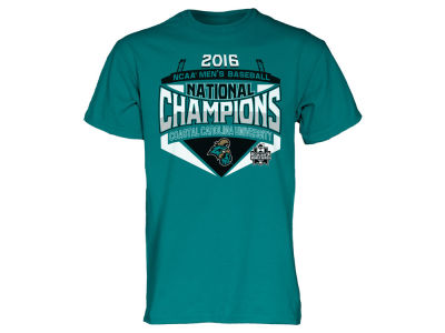 Coastal Carolina Chanticleers Blue 84 NCAA Men's 2016 College World Series Champions T-Shirt