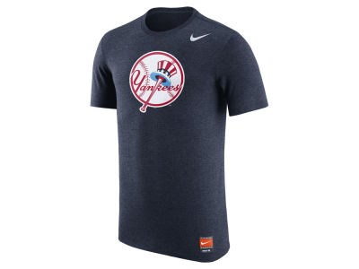 New York Yankees Nike MLB Men's Coop Tri-Blend Logo T-Shirt
