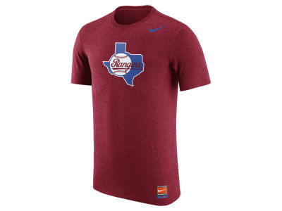 Texas Rangers Nike MLB Men's Coop Tri-Blend Logo T-Shirt