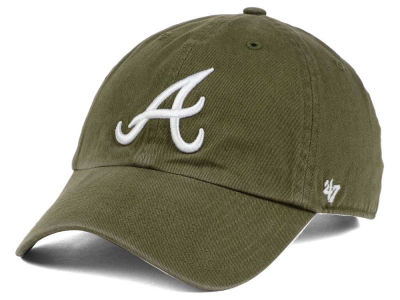 Atlanta Braves '47 MLB Olive White '47 CLEAN UP Cap