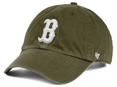 Boston Red Sox '47 MLB Olive White '47 CLEAN UP Cap