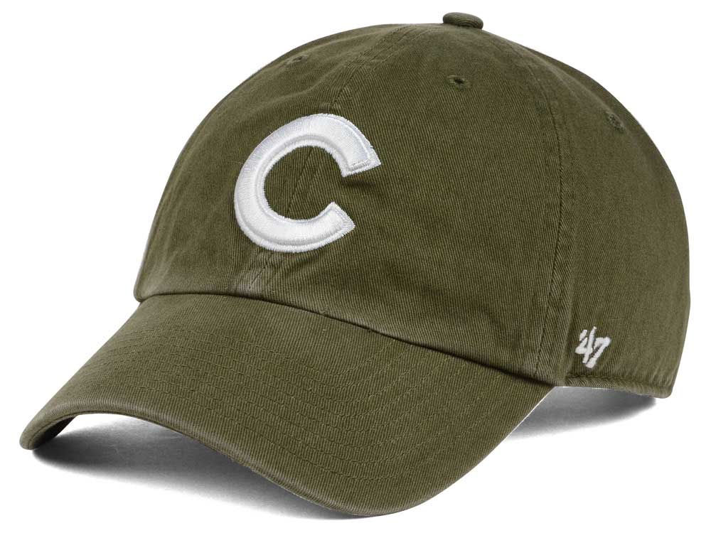 9e6fa17043ecb ... adjustable hat df0ec b9128 new zealand chicago cubs 47 mlb olive white  47 clean up cap 32cb7 455eb ...