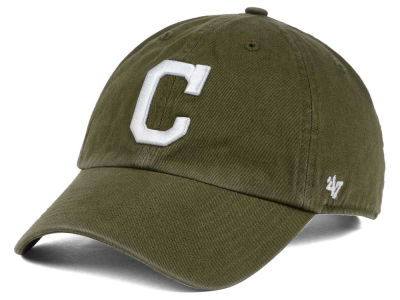 Cleveland Indians '47 MLB Olive White '47 CLEAN UP Cap