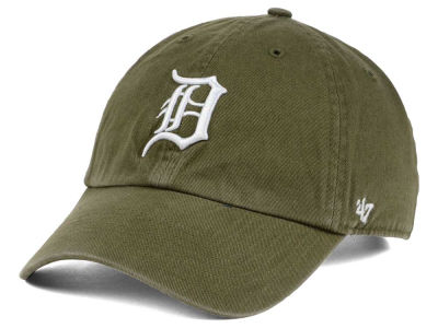 Detroit Tigers '47 MLB Olive White '47 CLEAN UP Cap