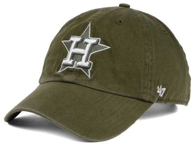 Houston Astros '47 MLB Olive White '47 CLEAN UP Cap