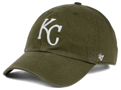 Kansas City Royals '47 MLB Olive White '47 CLEAN UP Cap