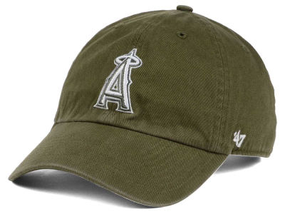 Los Angeles Angels '47 MLB Olive White '47 CLEAN UP Cap