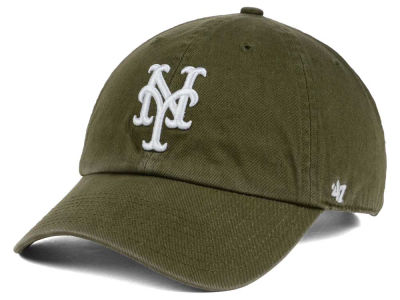 New York Mets '47 MLB Olive White '47 CLEAN UP Cap