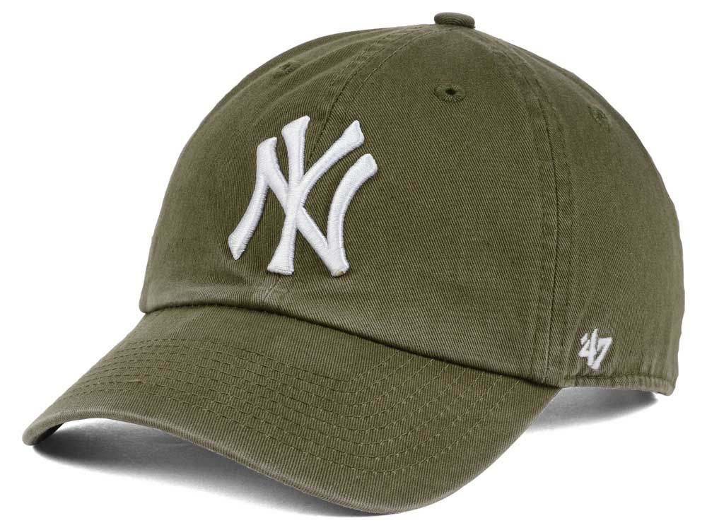 New York Yankees  47 MLB Olive White  47 CLEAN UP Cap  1e10930f6f3a