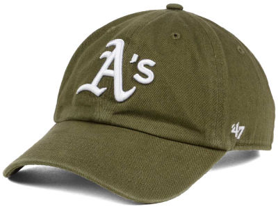 Oakland Athletics '47 MLB Olive White '47 CLEAN UP Cap