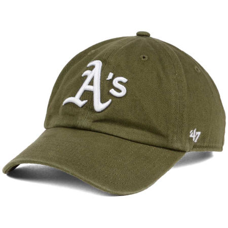 Oakland Athletics '47 MLB Olive White '47 CLEAN UP Cap