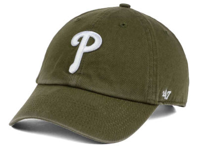 Philadelphia Phillies '47 MLB Olive White '47 CLEAN UP Cap
