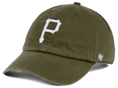Pittsburgh Pirates '47 MLB Olive White '47 CLEAN UP Cap