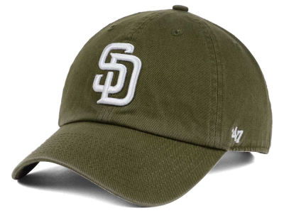 San Diego Padres '47 MLB Olive White '47 CLEAN UP Cap
