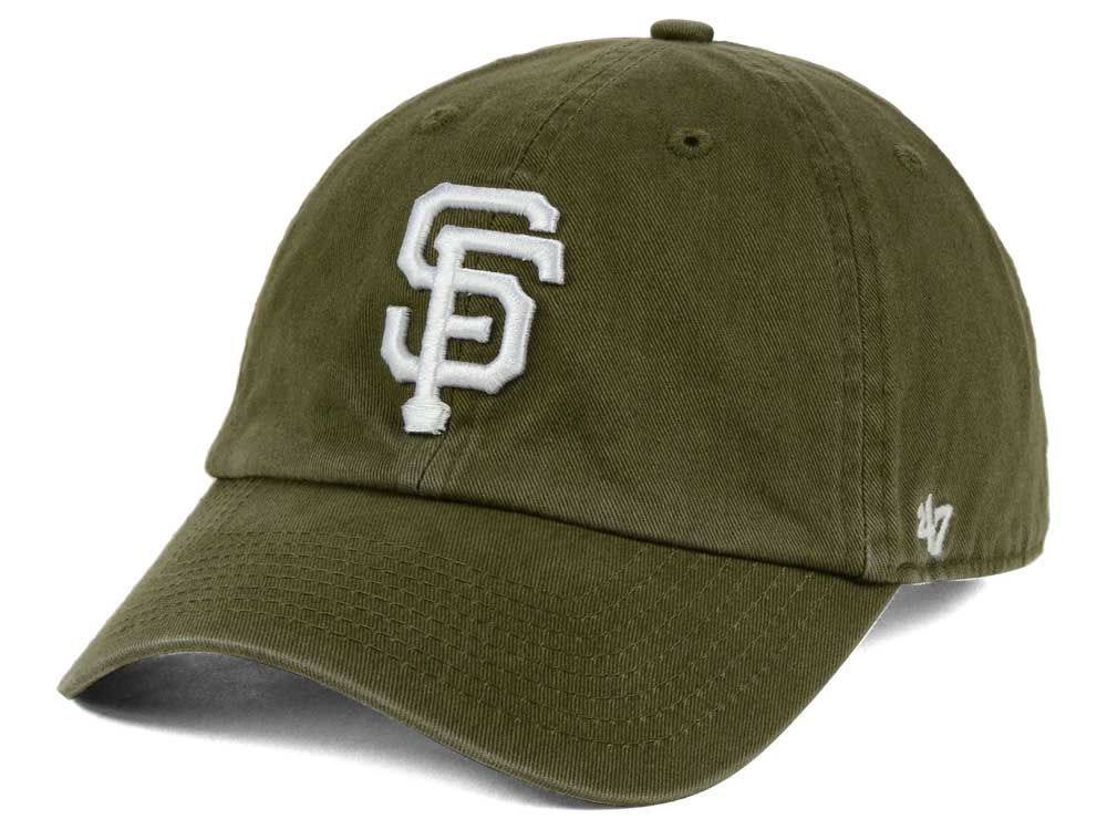 86dd53c9c30 San Francisco Giants  47 MLB Olive White  47 CLEAN UP Cap