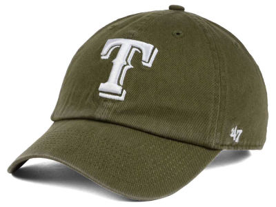 Texas Rangers '47 MLB Olive White '47 CLEAN UP Cap