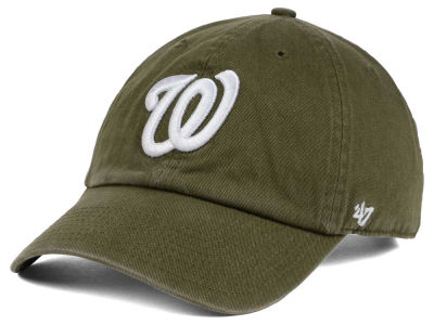 Washington Nationals '47 MLB Olive White '47 CLEAN UP Cap