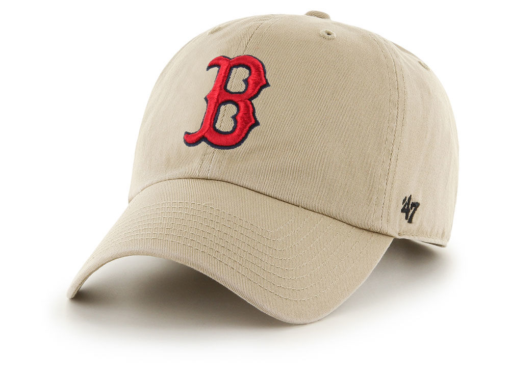 boston red sox 47 mlb khaki 47 clean up cap