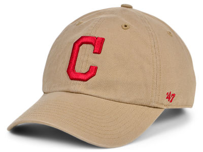 Cleveland Indians '47 MLB Khaki '47 CLEAN UP Cap