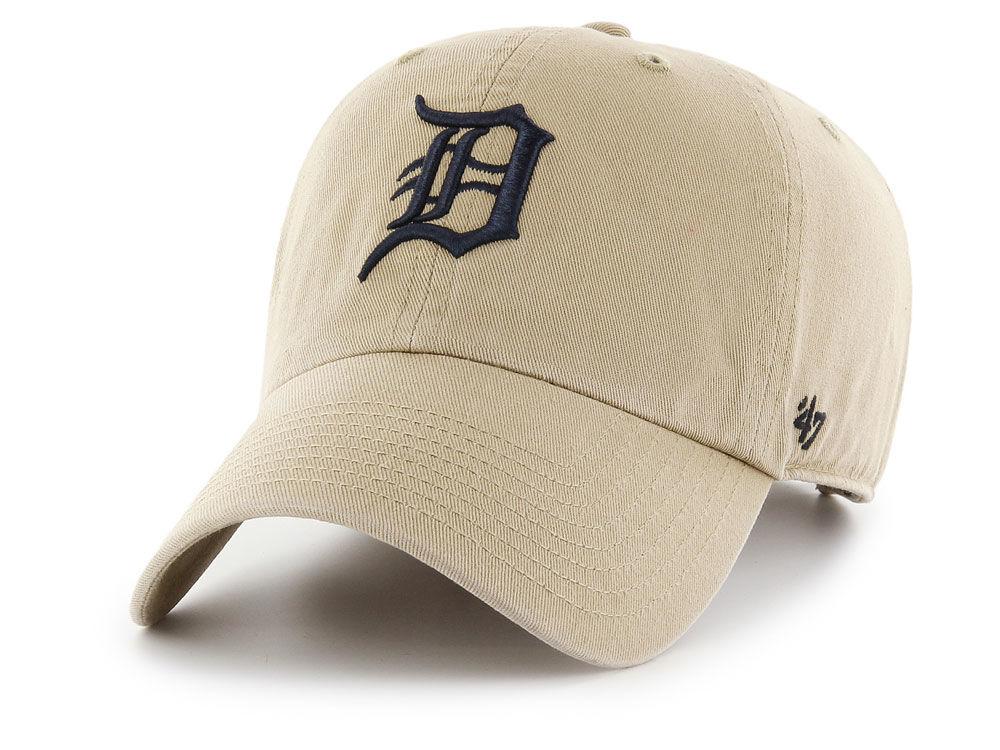new product 08518 9c6ca ... hot detroit tigers 47 mlb khaki 47 clean up cap 78aa2 8e472
