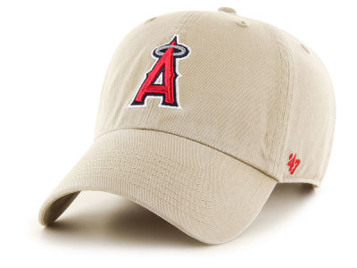 Los Angeles Angels '47 MLB Khaki '47 CLEAN UP Cap