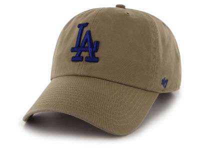 best website 78509 859b4 Los Angeles Dodgers  47 MLB Khaki  47 CLEAN UP Cap
