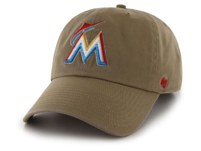 Miami Marlins '47 MLB Khaki '47 CLEAN UP Cap