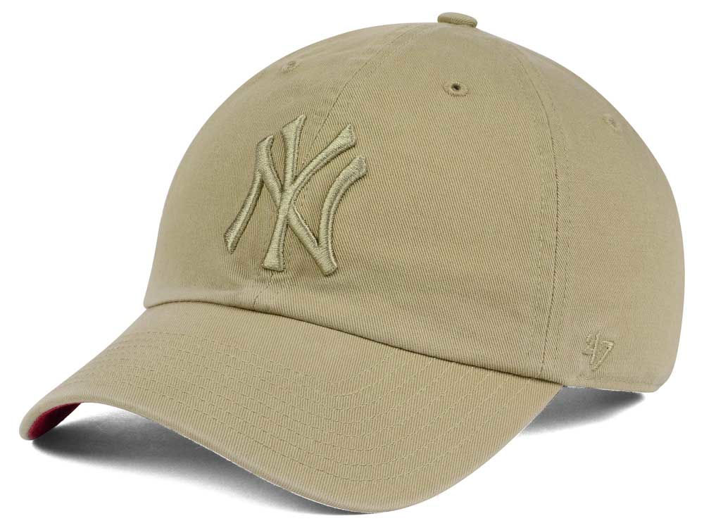 New York Yankees  47 MLB Khaki  47 CLEAN UP Cap  861ddf16c69