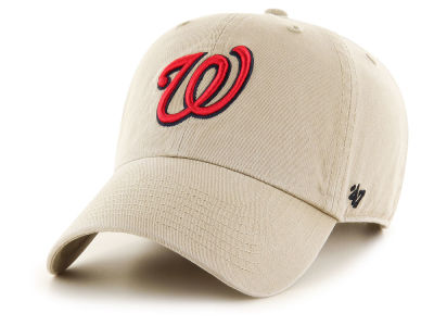 Washington Nationals '47 MLB Khaki '47 CLEAN UP Cap