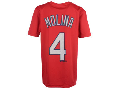 St. Louis Cardinals Yadier Molina MLB Youth Poly Player T-Shirt