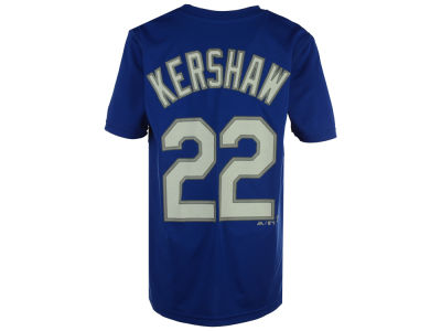 Los Angeles Dodgers Clayton Kershaw MLB Youth Poly Player T-Shirt