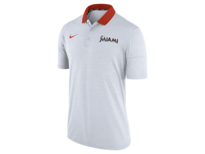 Miami Marlins Nike MLB Men's Dri-Fit Touch Polo