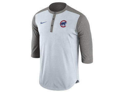 Chicago Cubs Nike MLB Men's Dri-Fit 3/4 Sleeve Henley T-Shirt