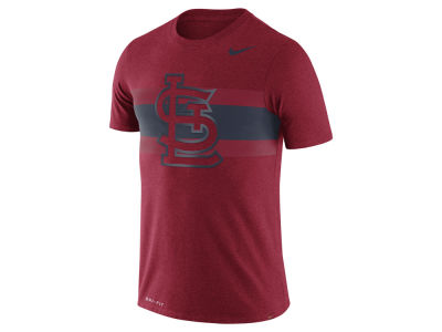 St. Louis Cardinals Nike MLB Men's Dri-Blend Stripes 1.7 T-Shirt