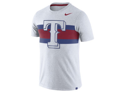 Texas Rangers Nike MLB Men's Dri-Blend Stripes 1.7 T-Shirt