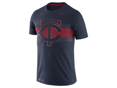 Minnesota Twins Nike MLB Men's Dri-Blend Stripes 1.7 T-Shirt