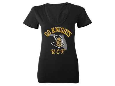 University of Central Florida Knights MYU NCAA Women's State Glitter T-Shirt