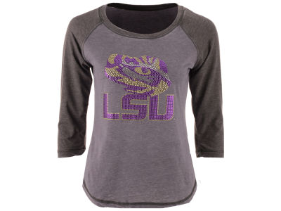 LSU Tigers MYU NCAA Women's Nail Quarter Sleeve T-Shirt