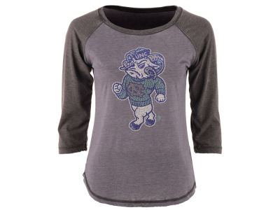 North Carolina Tar Heels MYU NCAA Women's Nail Quarter Sleeve T-Shirt