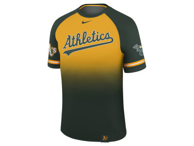 Oakland Athletics Nike MLB Men's Dri-Fit Sublimated Raglan T-shirt