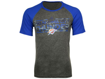 Oklahoma City Thunder adidas NBA Men's Camo Dassler Raglan T-Shirt
