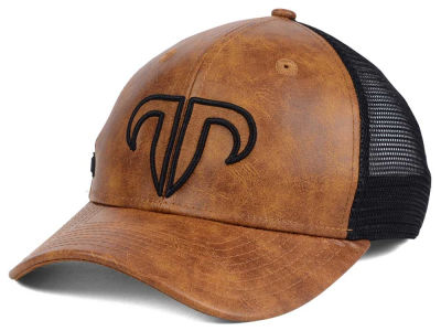 Rank Bull Leather Mesh Trucker Cap